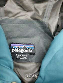 Taille Homme Petite Patagonie Calcite Gtx Pluie Veste Anti-vent 249 $ Bleu Gore-tex