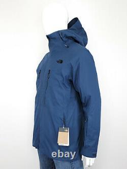 The North Face Men's Large Thermoball Eco Snow Triclimate 3 En 1 Veste Bleu Nouveau
