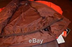 Tn-o Pdsf 349 $ The North Face Mens Jacket Gore Tex Steep Série Rouge / Brown Grand