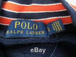 Tn-o. Ralph Lauren Veste De Football Letterman Letterman Baseball Homme En Polaire Pour Hommes Sz L Nouveau $ 268