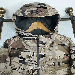 Tn-o Under Armour 2xl Ridge Reaper Gore-tex Pro Shell Camo Weatherproof Capot Nouveau