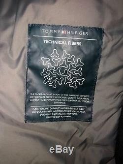 Tommy Hilfiger Hommes Veste Hiver Black Body Warm Veste Quilt Casual Casual Large