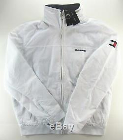 Tommy Hilfiger Men Yacht Yachting Veste Coupe-vent Waterstop Blanc 3xl XXXL