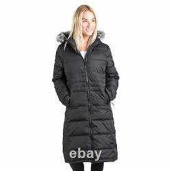 Trespass Womens Down Jacket Long Length Hooded Casual Coat Xxs-xxxl Phyllis