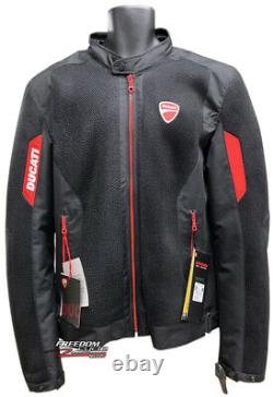 Vente New XXL Ducati Flow 2 Mens Mesh Armored Jacket Size Lightweight Breathable