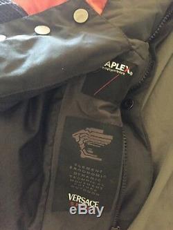 Versace Sport Noir Veste D'hiver Veste À Capuche Coupe-vent Us Medium Large 50 Eu