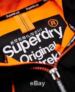 Veste À Capuche Zippée À Capuche Superdry Pour Hommes, Orange, Orange, Sd Sd