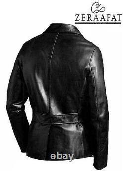 Veste Blazer Homme En Cuir De Mouton 100% Cuir Authentique Par Zeraafat