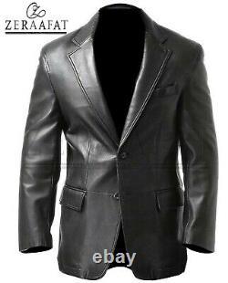 Veste Blazer Homme Lambskin Leather 100% Genuine Leather Par Zeraafat
