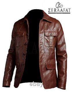 Veste Blazer Homme Manteau Sheepskin Cuir 100% Véritable Cuir Zeraafat Marque