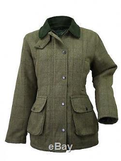 Veste De Chasse Tweed En Bois / Vert Pour Femmes