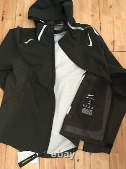 Veste De Course Nike Zonal Aeroshield Homme Bv4858-355 Vert Moyen