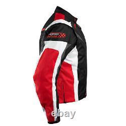 Veste De Moto Ce Armored Textile Moto Racing Thermal Liner Rouge