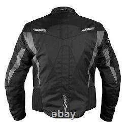 Veste De Moto Ce Armored Textile Motorbike Racing Thermal Liner Noir