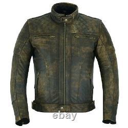 Veste De Moto En Cuir Arn Vintage En Tournée Avec Une Véritable Armure Ce