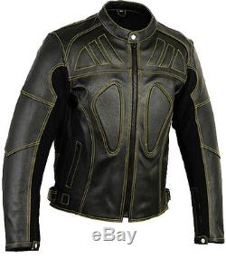 Veste De Moto En Cuir Squelette Moto Veste De Motard De Protection Ce