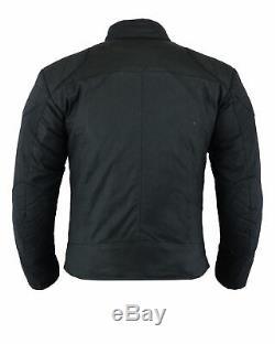 Veste De Moto Imperméable En Coton Ciré Coton Biker Ce En Armure Texpeed
