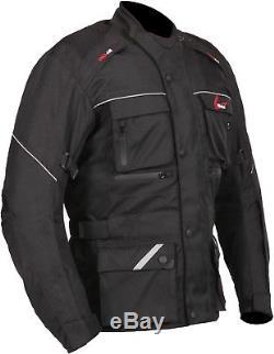 Veste De Moto Imperméable Weise Zurich Pour Hommes En Textile Noir Nouveau Pvc 119,99 €