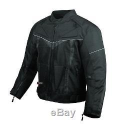Veste De Moto Proair Imperméable Avec Armure Réfléchissante Touring Mens Black