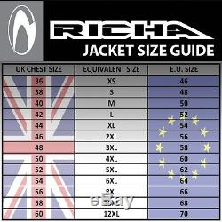 Veste De Moto Richa Piranha En Cuir Noire / Blanche / Rouge D3o Armor Was £ 299