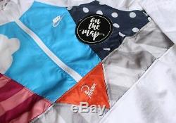Veste De Survêtement À Demi-zip Avec Nike X Parra - Blanc - Taille Petite - Medium S M - Nouveau