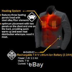 Veste Électrique Chauffée Par Batterie Chauffante Mobile Ansai Pour Hommes, Respirante Et Imperméable