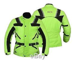 Veste En Cordura Haute Visibilité Blindée Pour Motocyclistes Motocyclistes Pour Hommes Hi Viz
