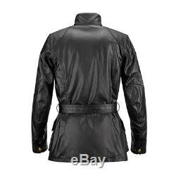 Veste En Coton Ciré Moto Noir Belstaff Classic Tourist Trophy Noire Toutes Tailles