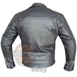 Veste En Cuir Motard Blindée De Course De Moto Faite À La Main En Métal De Pistolet 4588