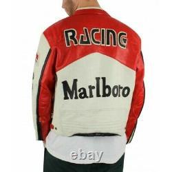 Veste En Cuir Vinatge Marlboro Homme Nouvelle Arrivée Toutes Les Tailles Disponibles
