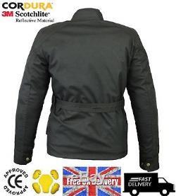 Veste En Textile Noir Imperméable Cordura Pour Motocyclette Pour Hommes, Blindé