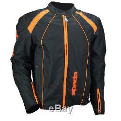 Veste En Textile Pour Moto Imperméable Spada Plaza Textile Black / Ktm Orange