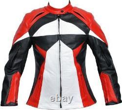 Veste Femme Moto En Cuir Rider Motorbike Protection Biker Veste En Cuir