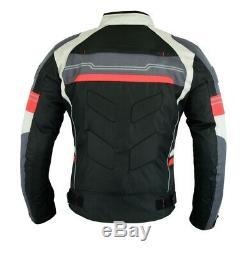 Veste Imperméable De Protection Bikers Bikers Haute Protection Noir / Rouge Cj-9412air