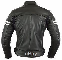 Veste Imperméable En Cuir Véritable De Moto D'hommes De Moto Nouvelle De La Protection De La Ce