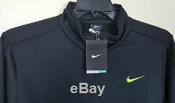 Veste Nike Dri-fit Survêtement + Pantalon Therma-fit Noir Volt Nouveau (grand Moyen)