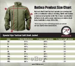 Veste Soft Shell Tactique Militaire Ops Spéciale Noire Rothco 9767