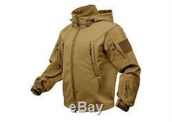 Veste Tactique Imperméable À L'eau Coyote Marron Soft Ops Soft Shell Rothco 9867