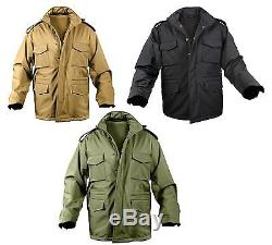 Veste Tactique Pour Homme Soft Shell M-65 Rothco Imperméable Manteau M65