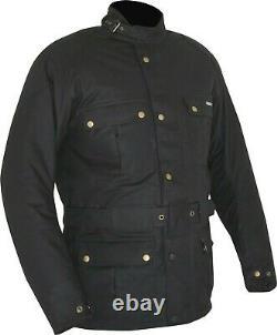 Veste Weise Glenmore Veste Homme Black Wax Cotton Motorcycle Jacket Nouveau