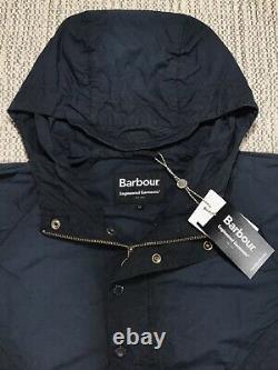 Vêtements D'ingénierie, Veste Barbour Warby, Medium Homme, Tout Neuf, Bleu Marine