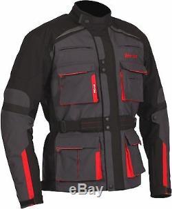 Weise Bora Veste De Moto Blindée En Textile Rouge Gunmetal Pour Hommes Nouveau Pvc 239,99 €