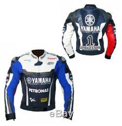 Yamaha Moto / Moto Hommes Veste En Cuir Biker Racing Vestes En Cuir