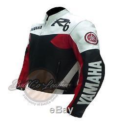 Yamaha R6 Vêtements De Moto En Peau De Vache Veste En Cuir Rouge Biker Cuir Buttco